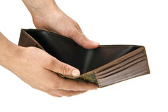 Empty wallet Stock Photo