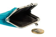 Almost empty wallet Stock Photography