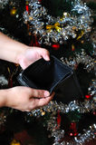 Empty wallet after Christmas Royalty Free Stock Images