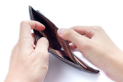 Empty Wallet Royalty Free Stock Photo