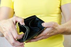 Empty wallet Stock Photos