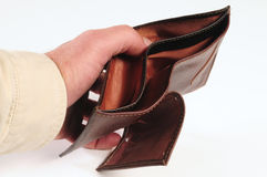 Empty wallet. Finance concept Royalty Free Stock Photos