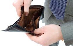 Empty wallet in hands Stock Photo