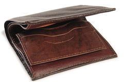 Empty wallet. Isolated Stock Photos