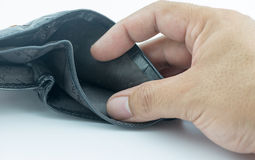 Empty wallet isolated. Stock Photos
