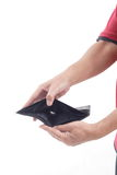 Empty Wallet on white background Royalty Free Stock Photo