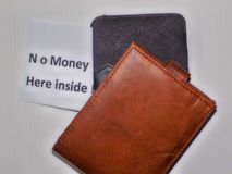 The empty wallt. It does not mean that you do not own money,may be you Credit Royalty Free Stock Images