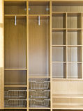 Empty wardrobe. With regiments and wire baskets Stock Photography