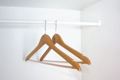 Empty wardrobe Stock Images