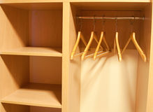 Empty Wardrobe with shelves Stock Photography