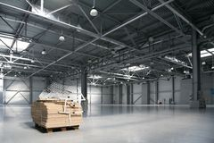Empty warehouse Royalty Free Stock Photo