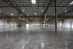 Empty warehouse. An empty and spacious warehouse Stock Photography