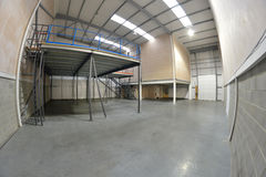 Empty warehouse area Royalty Free Stock Photo