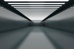 Empty Warehouse. 3D illustration of a empty warehouse with illumination Stock Image