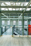 Empty warehouse with glass roof Stock Photos