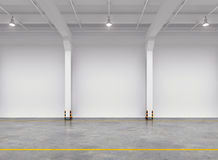 Empty warehouse interior Royalty Free Stock Photo