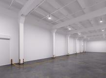Empty warehouse interior. 3d Illustration Stock Photography