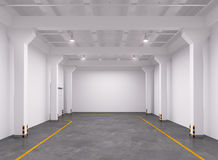 Empty warehouse interior Royalty Free Stock Photography