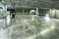 Empty warehouse interior Royalty Free Stock Image