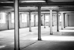 Empty warehouse office or commercial area Royalty Free Stock Photography