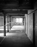 Empty warehouse office or commercial area Stock Image