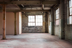 Empty warehouse office or commercial area, industrial background. With copy space Stock Image