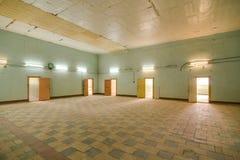 Deserted abandoned warehouse Stock Photo