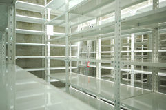 Empty warehouse, storage  racks Stock Photos