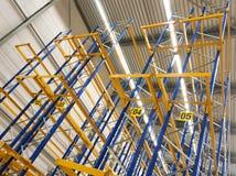 Empty warehouse shelves Stock Image