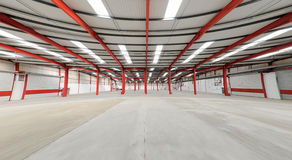 Empty warehouse Royalty Free Stock Images