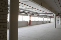 Empty Warehouse With Windows Stock Image