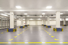 Empty Warehouse With Columns Stock Photography