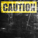 Empty warning sign. With space for your own text Royalty Free Stock Photo