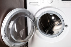 Empty washing machine Royalty Free Stock Images