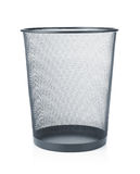 Empty wastebasket Stock Photos