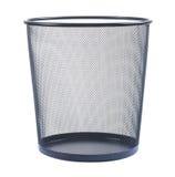 Empty wastebasket on white background Royalty Free Stock Photo