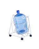 Empty water bottle on steel stand with wheels Stock Photography
