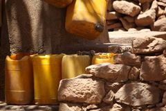 Empty Water Cans Stock Images