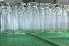 Empty water glasses Royalty Free Stock Photo