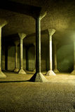 Empty water reservoir. With columns Royalty Free Stock Photos