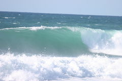 Empty wave. On French south ouest coastline Stock Photos