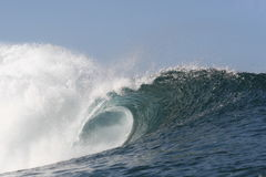 Empty wave at Pipeline. A beautiful empty wave at Pipeline Stock Photography