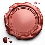Empty wax seal Royalty Free Stock Image
