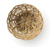 Empty weave wicker basket Stock Image