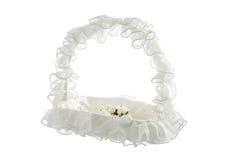 Empty wedding basket isolated on white background Royalty Free Stock Image