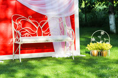 Empty wedding bench Royalty Free Stock Images