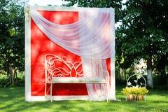 Empty wedding bench Royalty Free Stock Photography