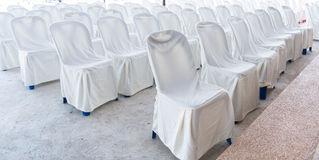 Empty wedding chairs elegantly Royalty Free Stock Images