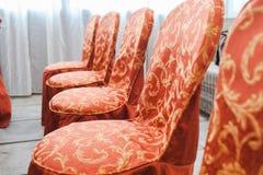 Empty wedding chairs Royalty Free Stock Photo