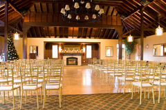 Empty wedding reception hall Stock Image